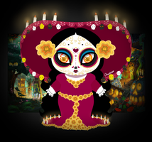 La Muerte : Goodess of the Dead by chunk07x