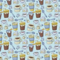 Pattern: Coffee and Tea by Cup-Kayke