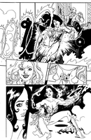 Wonder Woman in action by FrancescoTrifogli