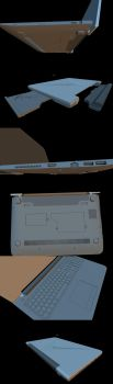 Highly detailed laptop WIP by AbdouBouam