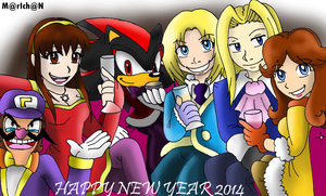 SPECIAL CROSSOVER Happy New Year 2014 by 7marichan7