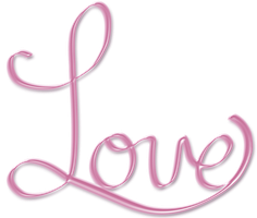 Pink Love PNG word art text by crysluvsjim