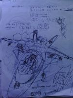 Aircraft Drawing - First experiment by arya74