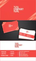 Simple red-white business card by vitalyvelygo