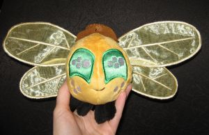 Applejack parasprite plushie, now with hat! by WhiteHeather
