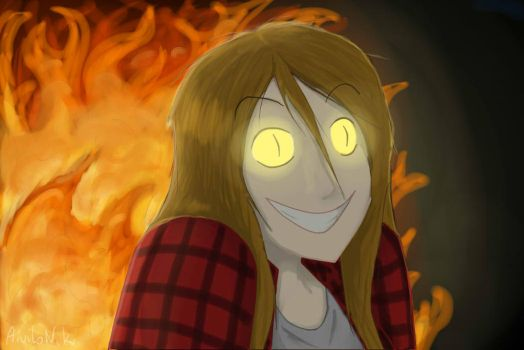 Possesed by Bill Cipher - BURN! by AiwiloNik