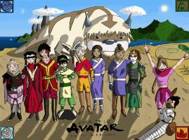 Avatar: the group picture by Humming-Fly