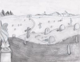 Random background scene cemetary by Yukiko-chan