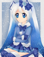 Snow Miku by BunniMelodii