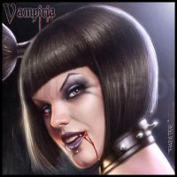 Vampiria: wanna bite and suck? face closeup by rafater
