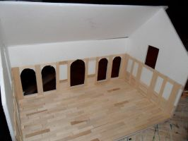 Gothic-ish Dollhouse 1:24 WIP 2 by kayanah