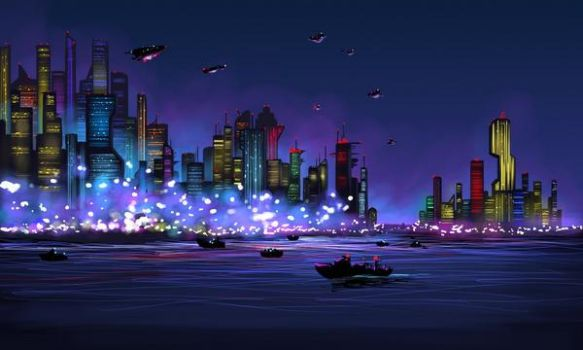 A city of the future by sajuta