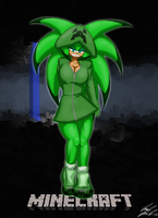 Halloween 2012, Camil as a Creeper by Toughset