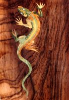 Marquetry Lizard by decojo