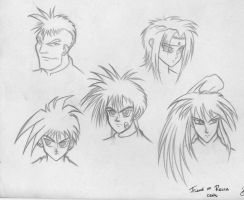 flame of recca heads by shytype001