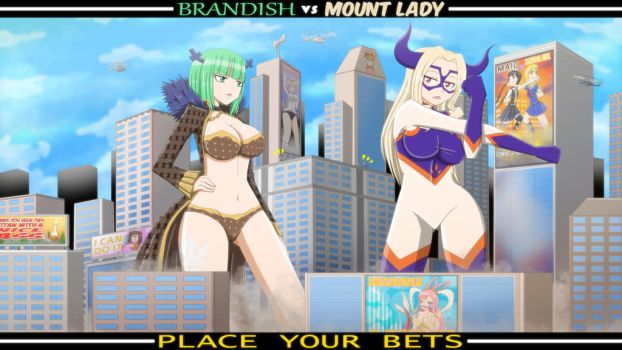 Brandish vs Mount Lady Colored Vers. by 95Darkrai