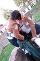Rivaille and Petra cosplay. One more kiss by BakaSaru2000