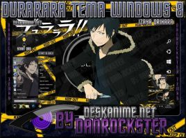 Izaya Orihara Theme Windows 8 by Danrockster