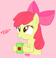 Applebloom - Cool Juice Boxes by myphobia
