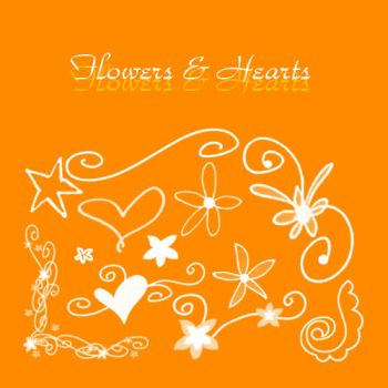 Flowers and Hearts Brushes by KrisPS