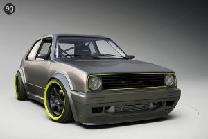 Golf Mk2 I - Studio - 3D by AlexandreGuilbeault