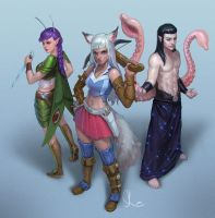 Commission - Arctix, Snick and Krakin by SKtneh