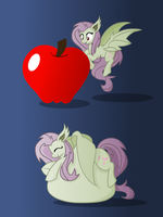 Flutterbat - Apple of Her Eye by IrateLiterate