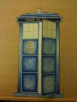 Tardis Card by Poefish