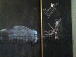ChalkBoard Black Rock Shooter~ by LuckyKittyCat
