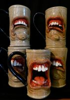 Gang of Dental Mugs by thebigduluth
