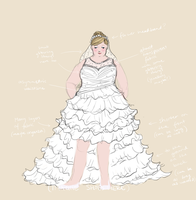 Wedding dress concept (contest entry) by Merrinella