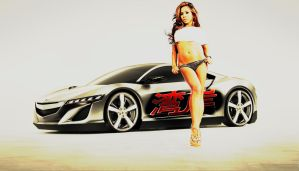 2012-Acura-NSX-girl wallpaper by JDimensions27