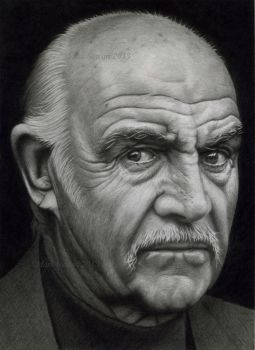 Sean Connery in graphite by markstewart