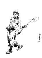 Slaine from 2000AD by Paul-Moore