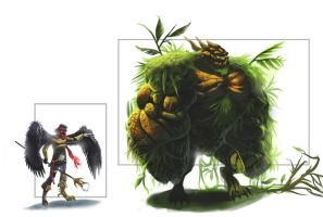 birdman and earth monster by trunkssss
