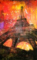 Eiffel Tower Etching 2 by Black-Rose-1991