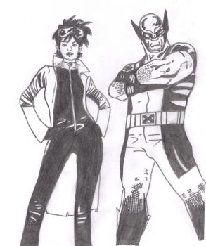 Wolverine And Jubilee by frostyrogue