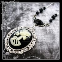 Skeletal Goddess Necklace by LadyStarrlight