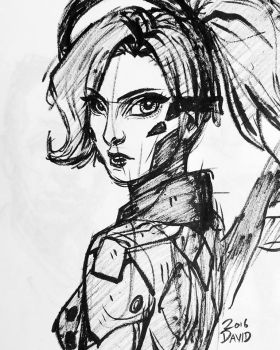 Overwatch- Mercy sketch by Flap15