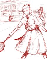 Annual Badminton Game at the Weston Girls' Campus by whitewestie13