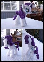 MLP: FiM - Rarity plushie (with wired mane) by Rasaliina