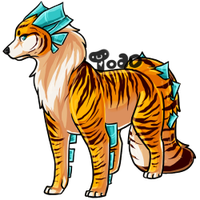 Dog Tiger Thing by hobbledehoy