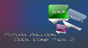 Futura Balloon Icons Pack 2 by Rimmingboy