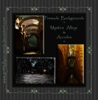 Premade Backgrounds-Mystics Alleys and Arcades by GothLyllyOn-Sotck