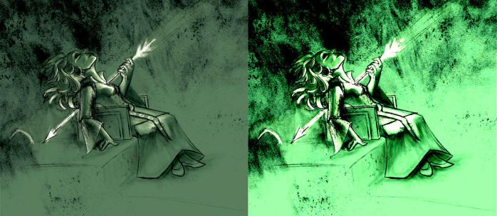Dis in Green Versions by lucydarkwood