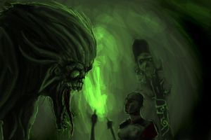 Troll vs romen leginer cave by Blavit