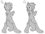 MS Paint Anthro Lineart by xx-BREAKTHEBEAT-xx