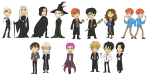 harry potter: stickers by LizCoshizzle