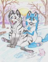 December for Iceburgwolf by NatsumeWolf