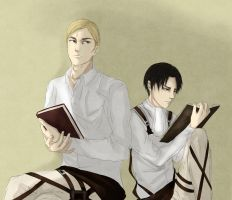 Irvin x Rivaille by Silent-Alarm-ororo